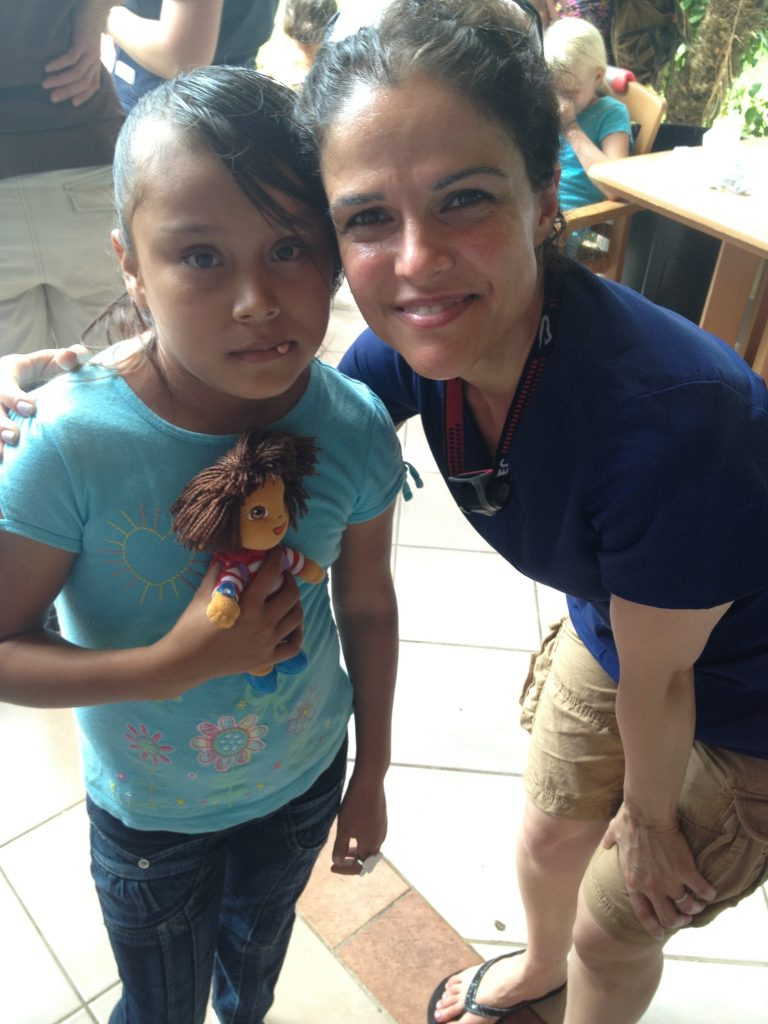 Guatemalan child with Dr Nilou